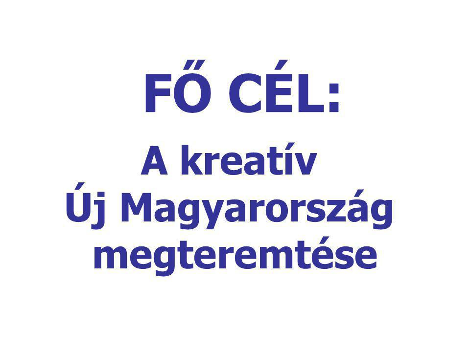 FŐ CÉL: A kreatív Új Magyarország megteremtése