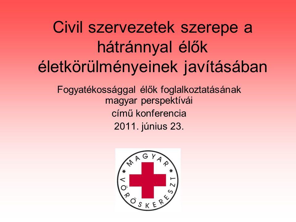 Civil szervezetek szerepe a hátránnyal élők életkörülményeinek javításában Fogyatékossággal élők foglalkoztatásának magyar perspektívái című konferencia 2011.