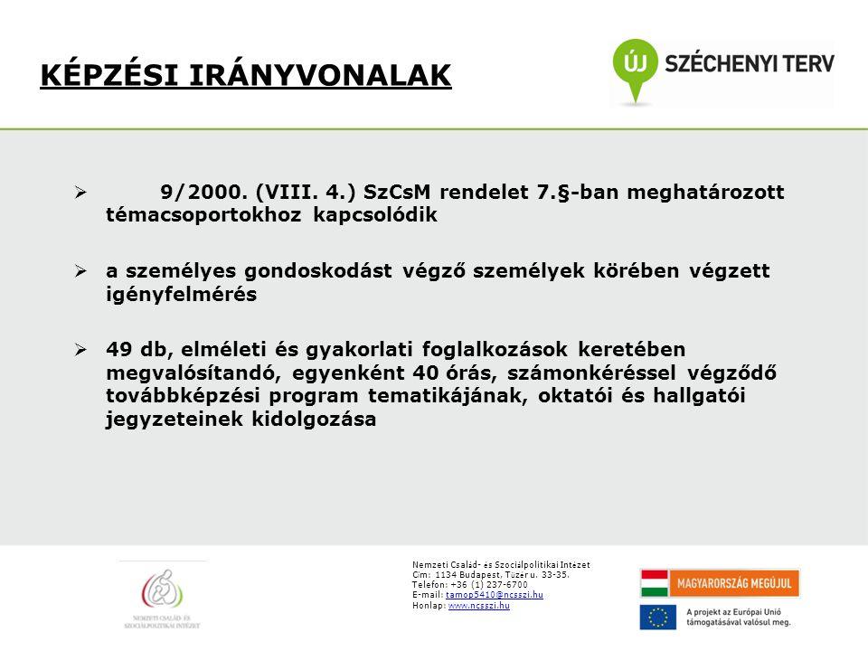 C í m: 1134 Budapest, T ü z é r u. 33-35. Telefon: +36 (1) 237-6700 E-mail: tamop5410@ncsszi.hutamop5410@ncsszi.hu Honlap: www.ncsszi.huwww.ncsszi.hu