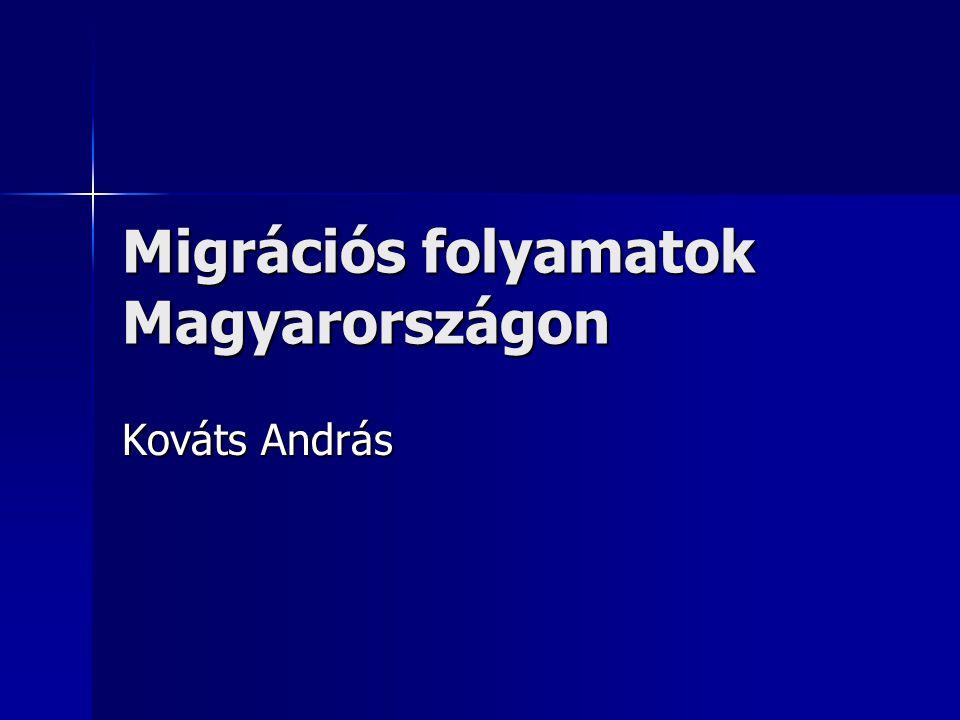 A magyar bevándorlás jellegzetességei  Európai összehasonlításban kevesebb bevándorló (stock és flow adatok)  A bevándorlók döntően a szomszédos európai országokból érkeznek  A bevándorlók többsége magyar nemzetiségű  Nincsenek nagy bevándorló közösségek