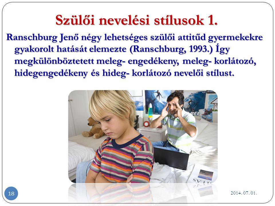 Szülői nevelési stílusok 1.