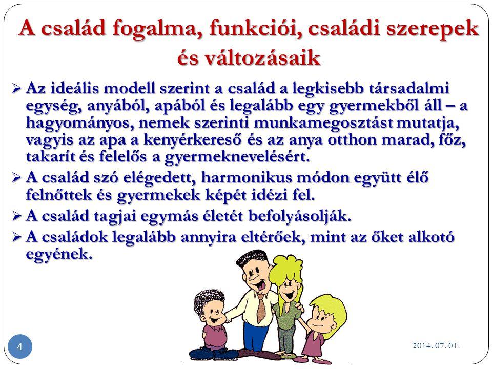 Család iskolás korú gyermekkel (6 - 12 éves korig) A 8- 14 éves korú gyermekeket nevelő családok életszakasza egységesnek tűnik, mert az iskola köré szerveződik a gyermek élete.