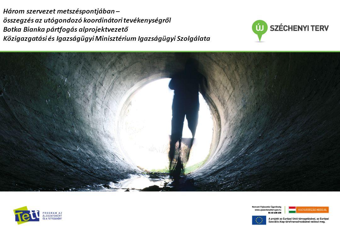 Az utógondozás szerepe és fontossága az Igazságügyi Szolgálatnál Dr. Kunfalvi Zoltán, KIMISZ Főigazgató Három szervezet metszéspontjában – összegzés a