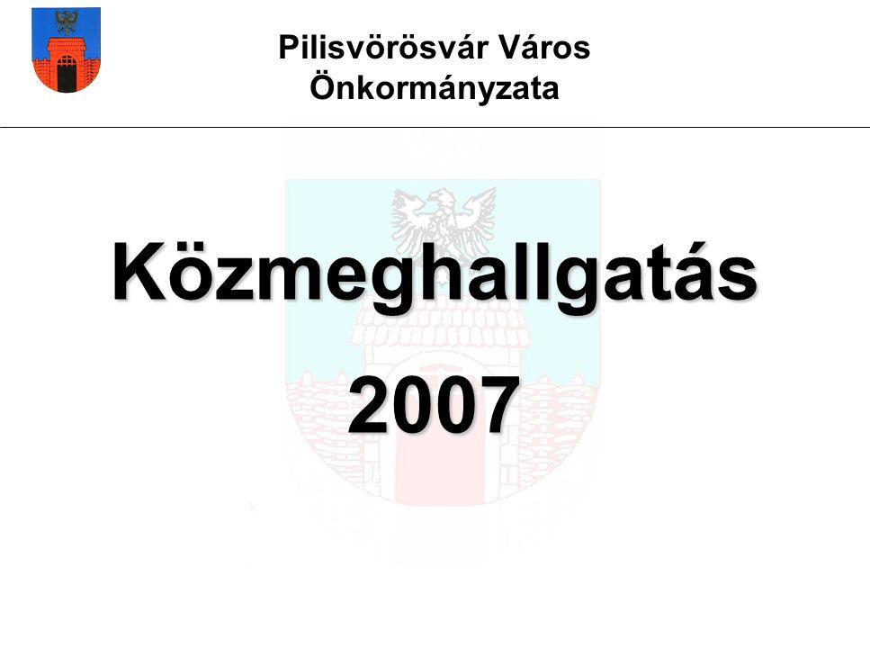 Pilisvörösvár Város Önkormányzata Közmeghallgatás 2007