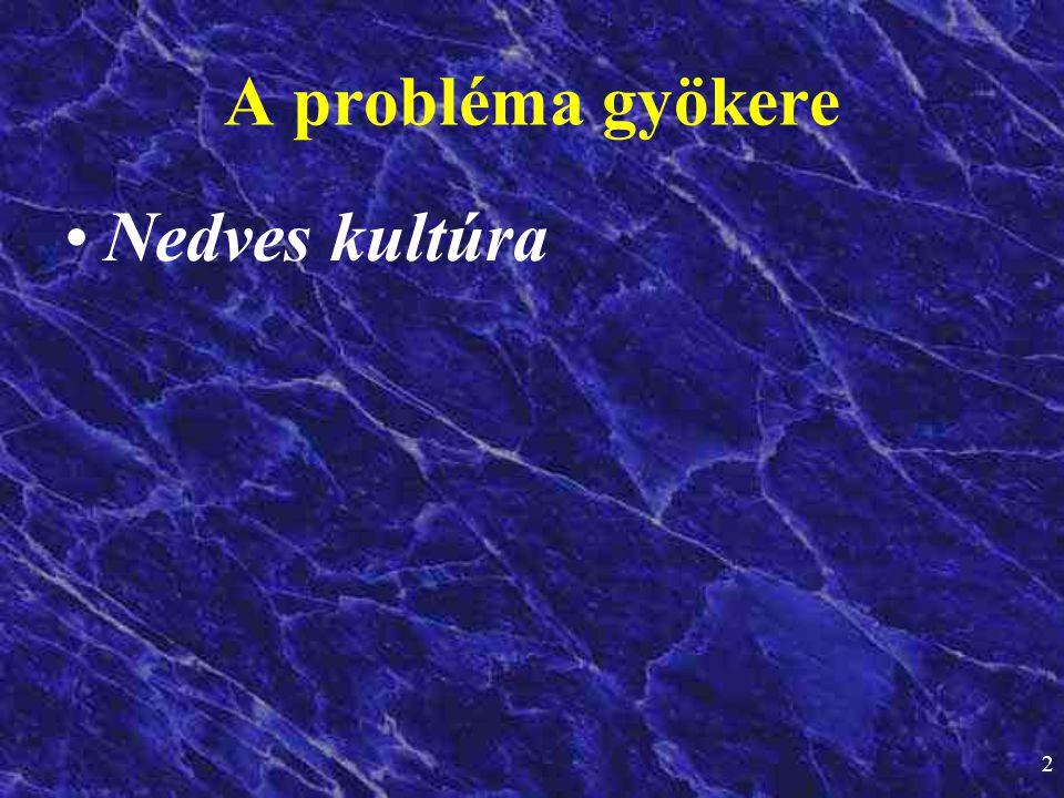 2 •Nedves kultúra A probléma gyökere