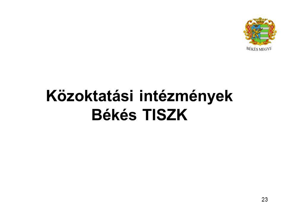 Közoktatási intézmények Békés TISZK 23