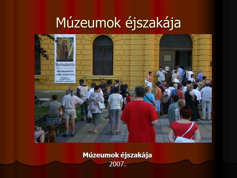 Múzeumok éjszakája 2007.