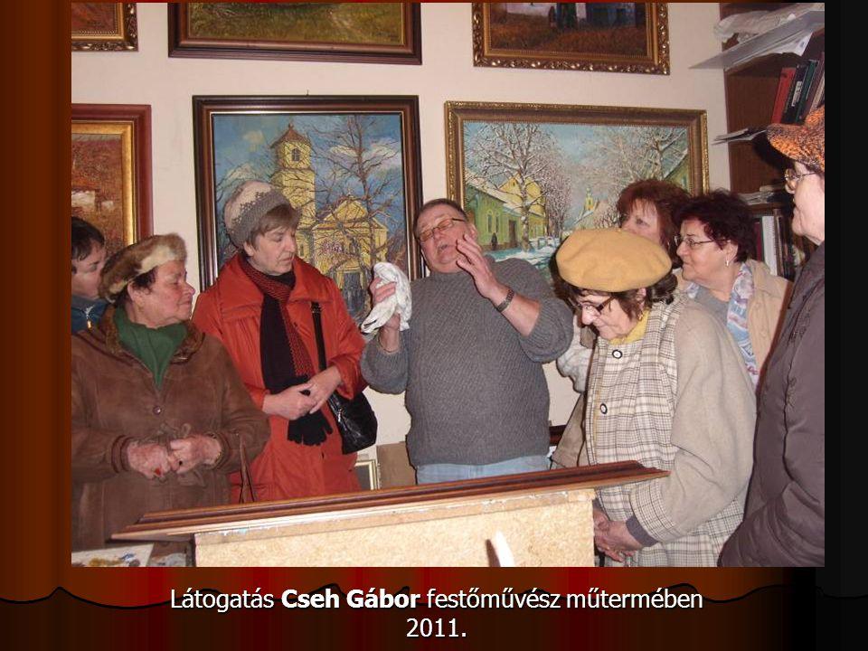 Látogatás Cseh Gábor festőművész műtermében 2011.