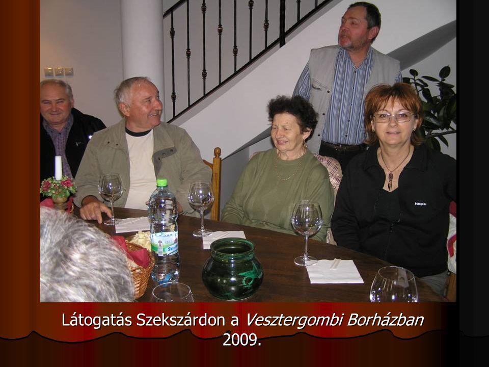 Látogatás Szekszárdon a Vesztergombi Borházban 2009.