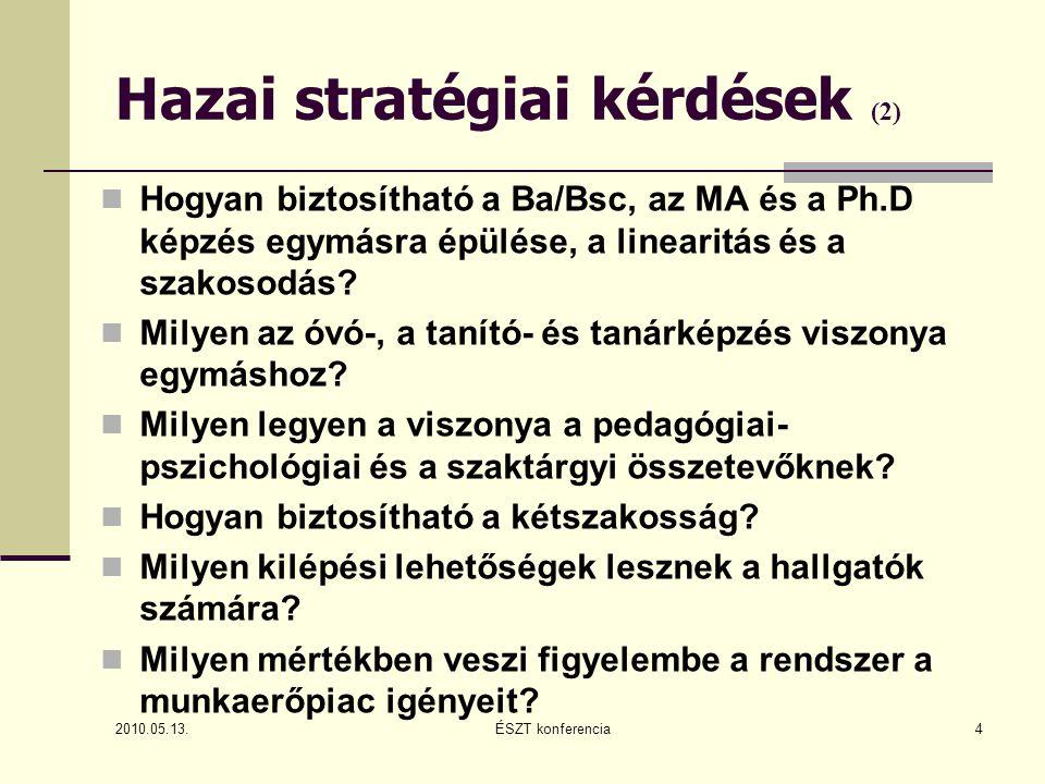 Vélemények (4) Magyar Rektori konferencia Pedagógusképző Bizottsága állásfoglalása (2010.