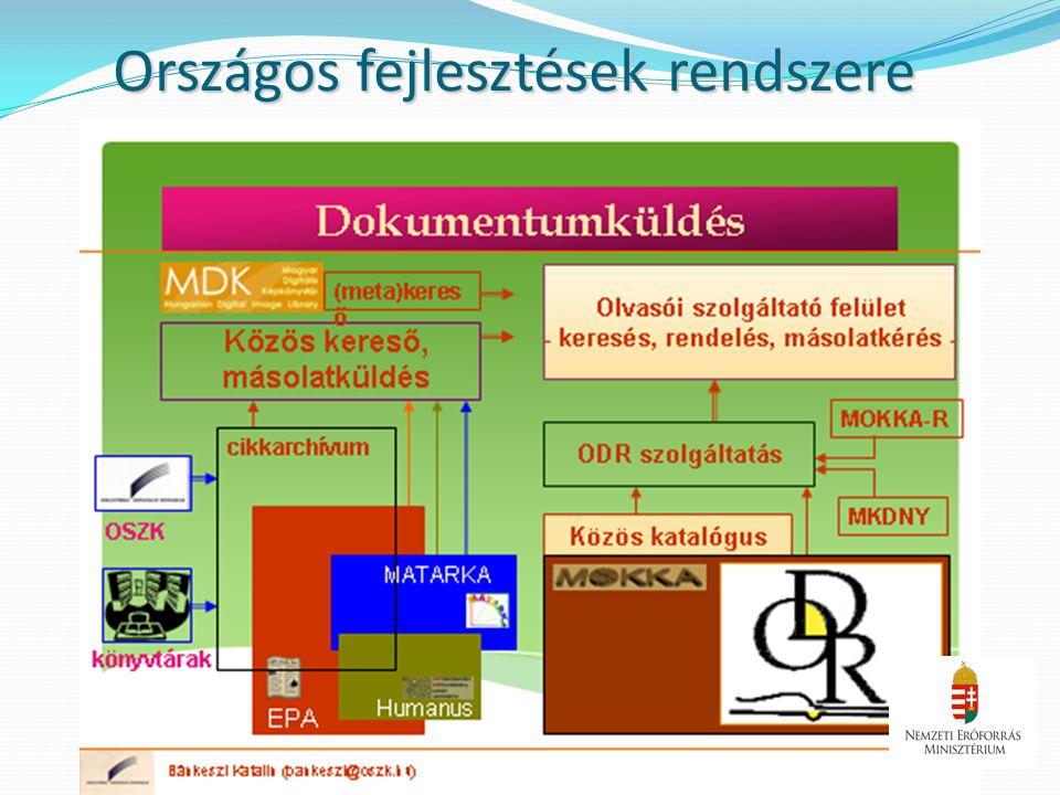 Országos fejlesztések rendszere