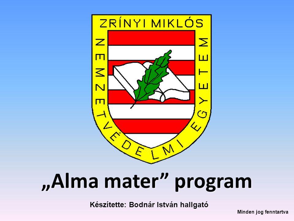 """""""Alma mater"""" program Készítette: Bodnár István hallgató Minden jog fenntartva"""