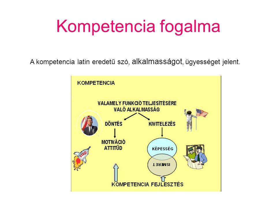 Kompetenciaterületek Anyanyelvi kommunikáció Matematikai kompetencia Természettudományos kompetencia Hatékony, önálló tanulás Kezdeményezőképesség és vállalkozói kompetencia Esztétikai-művészeti tudatosság és kifejezőkészség Idegen nyelvi kommunikáció Szociális és állampolgári kompetencia Digitális kompetencia