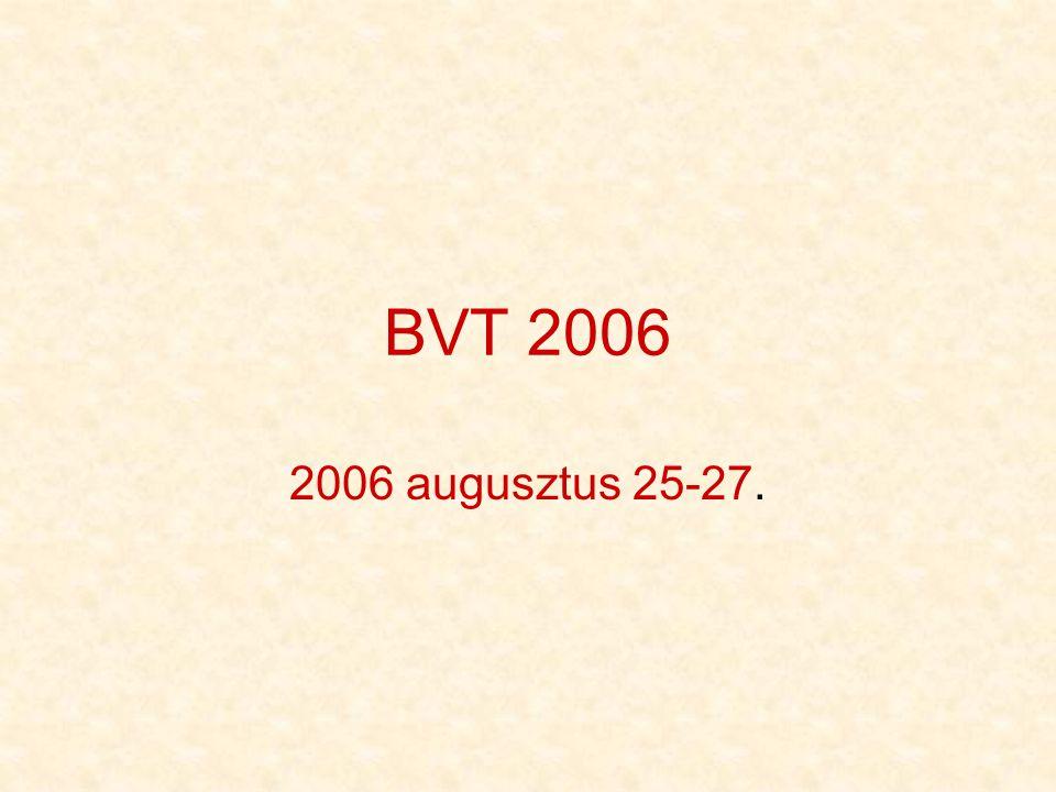 Előzmények •Miután idén is késhegyre menő vita alakult ki, hogy a temérdek jelentkező közül ki szervezze a BVT-t, néhány lelkes ember (Rufi, Naccsanyi, Kacsa, Joci, AtB, Józsibaba, Pepe – ez utóbbiak a főszervezők) nekiállt, mert hiszünk abban, hogy a BVT nagyon nagy érték, amit meg kell őriznünk.