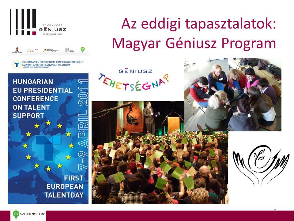 5 Az eddigi tapasztalatok: Magyar Géniusz Program