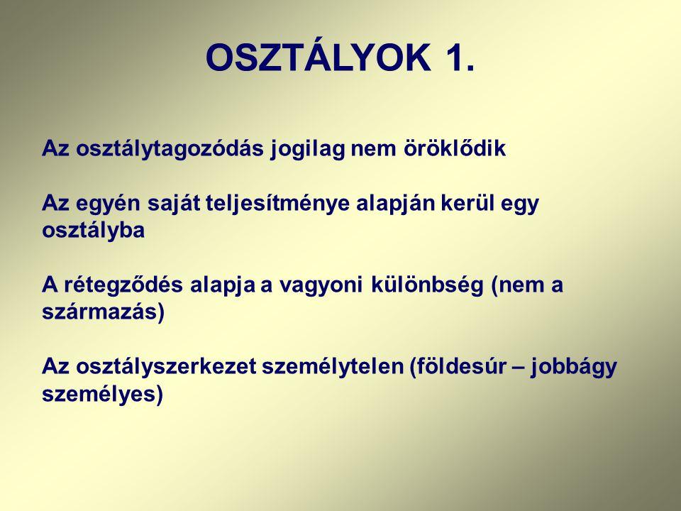 OSZTÁLYOK 1.