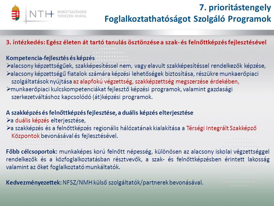 3. intézkedés: Egész életen át tartó tanulás ösztönzése a szak- és felnőttképzés fejlesztésével Kompetencia-fejlesztés és képzés  alacsony képzettség