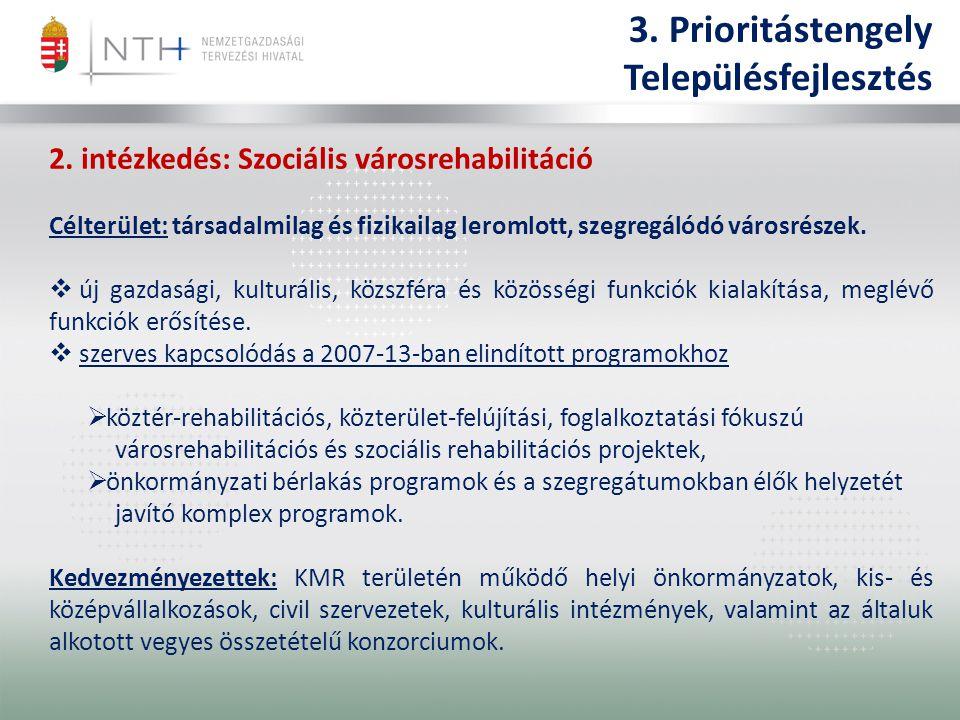 3. Prioritástengely Településfejlesztés 2.