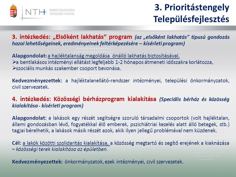 3. Prioritástengely Településfejlesztés 3.