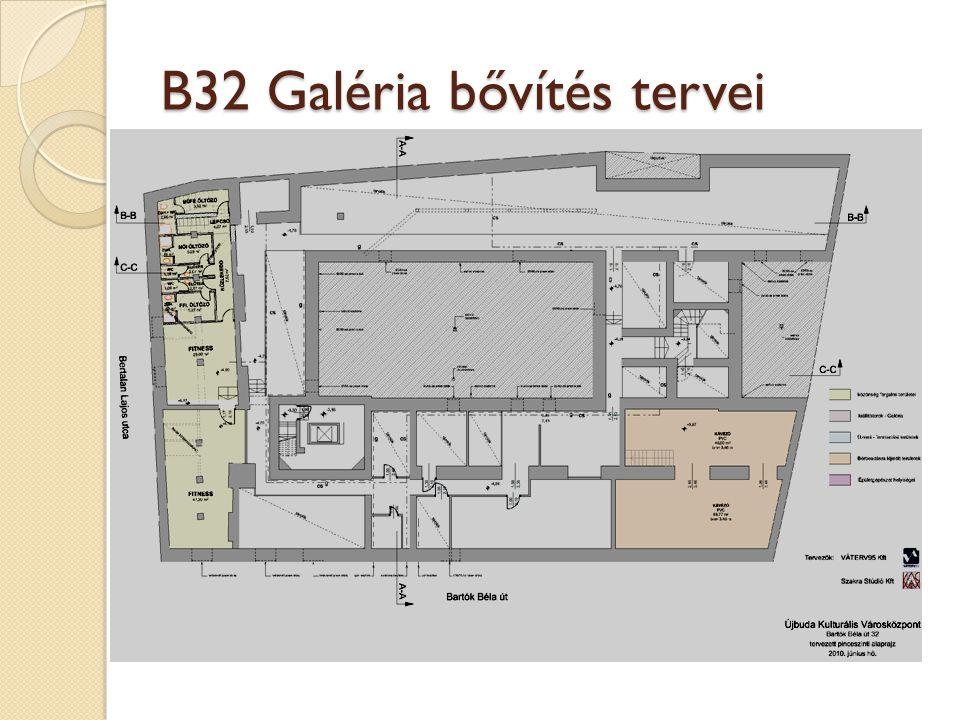 B32 Galéria bővítés tervei