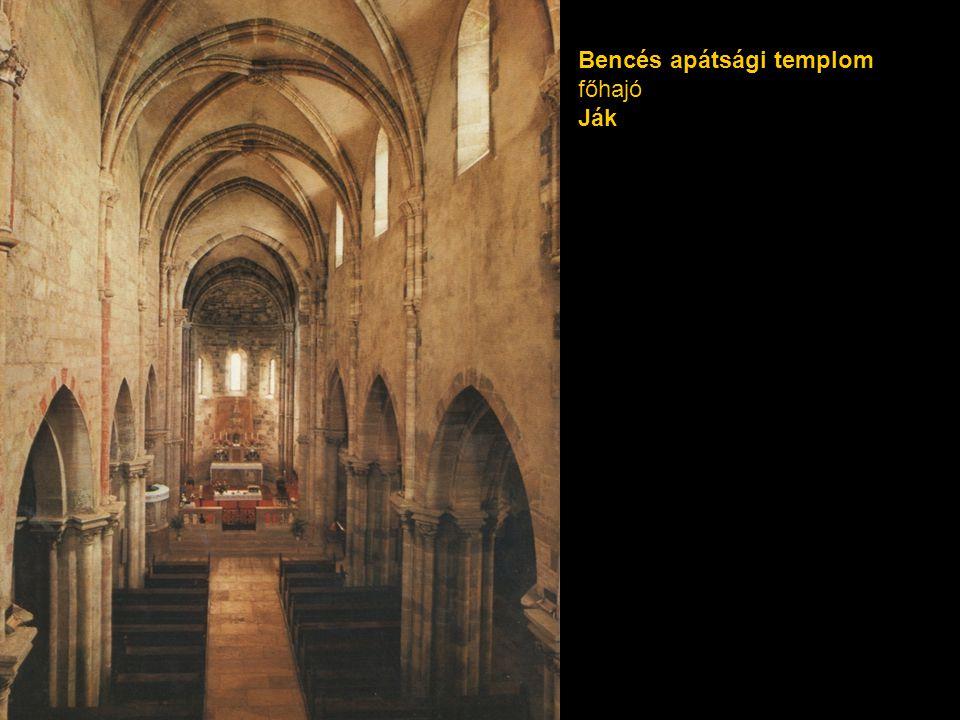 Bencés apátsági templom főhajó Ják