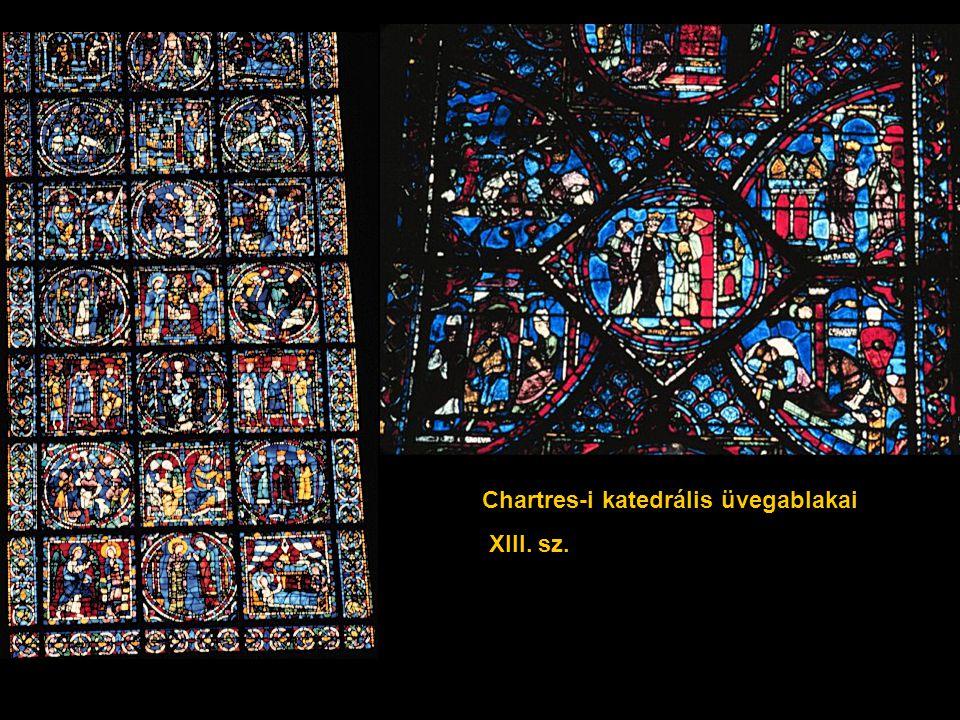 Chartres-i katedrális üvegablakai XIII. sz.