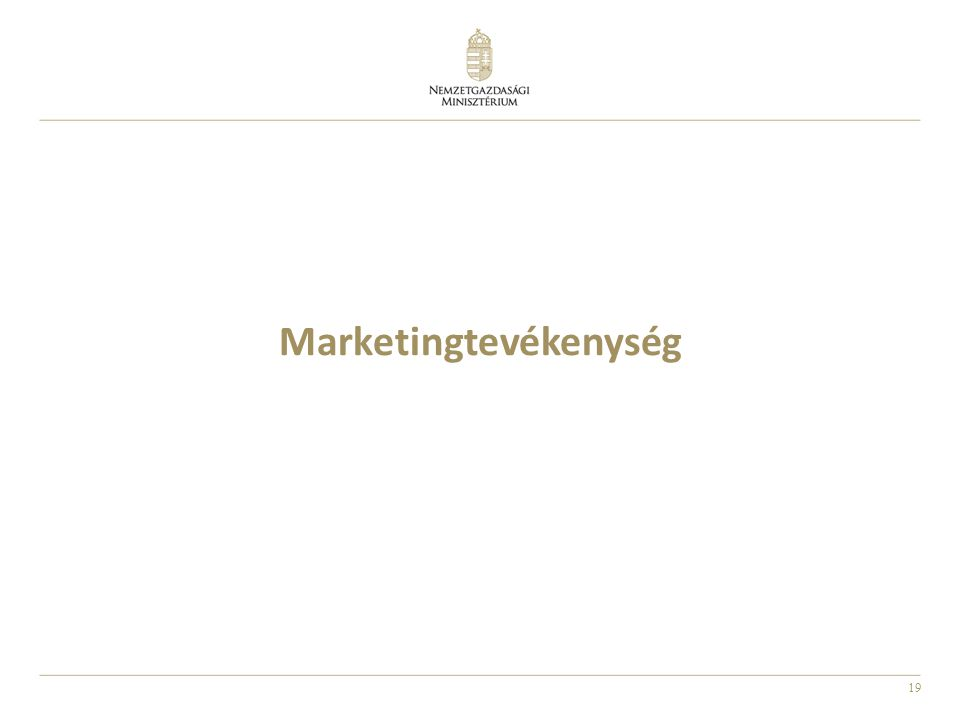 19 Marketingtevékenység