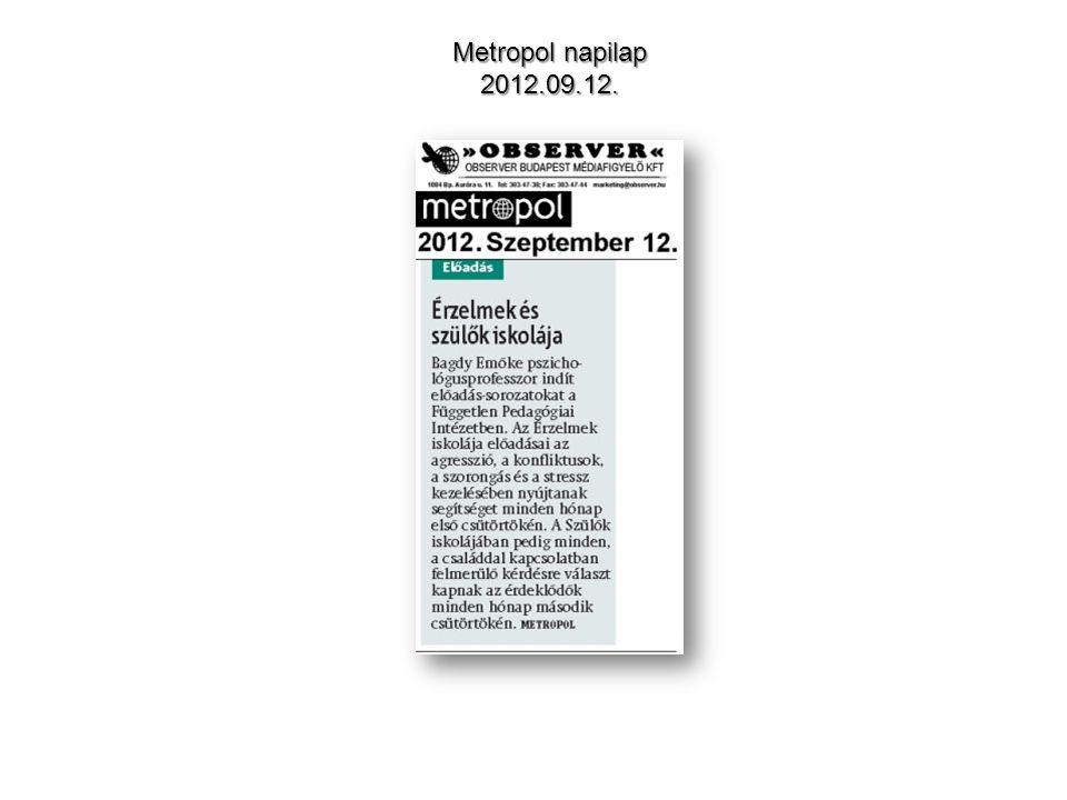 Metropol napilap 2012.09.12.