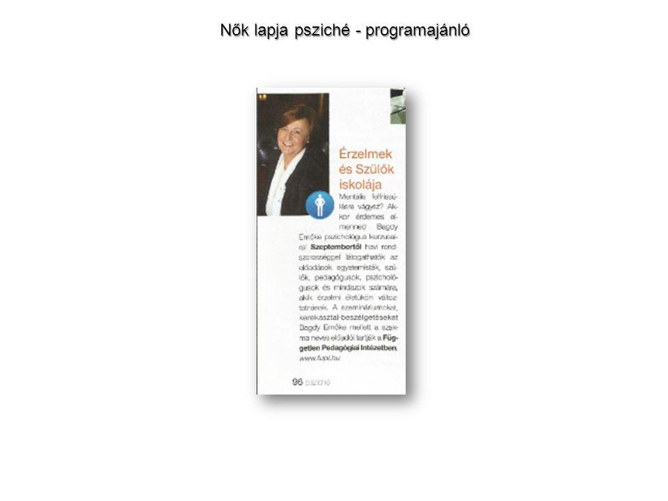 Nők lapja psziché - programajánló