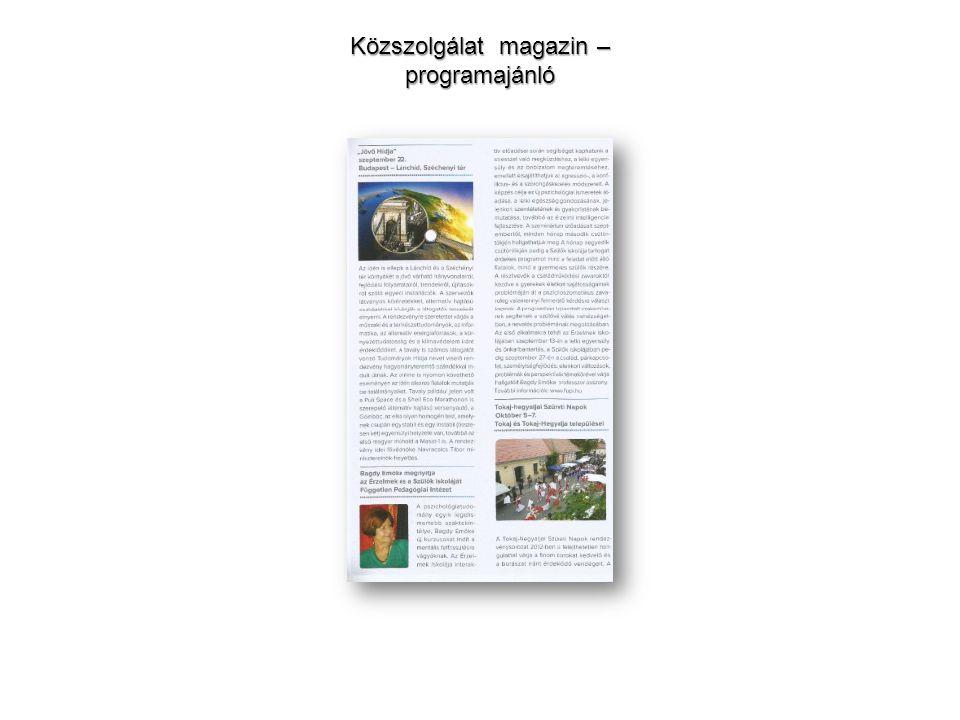 Közszolgálat magazin – programajánló