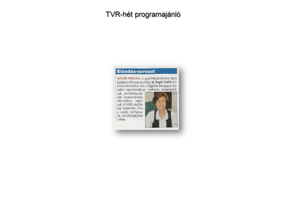 TVR-hét programajánló