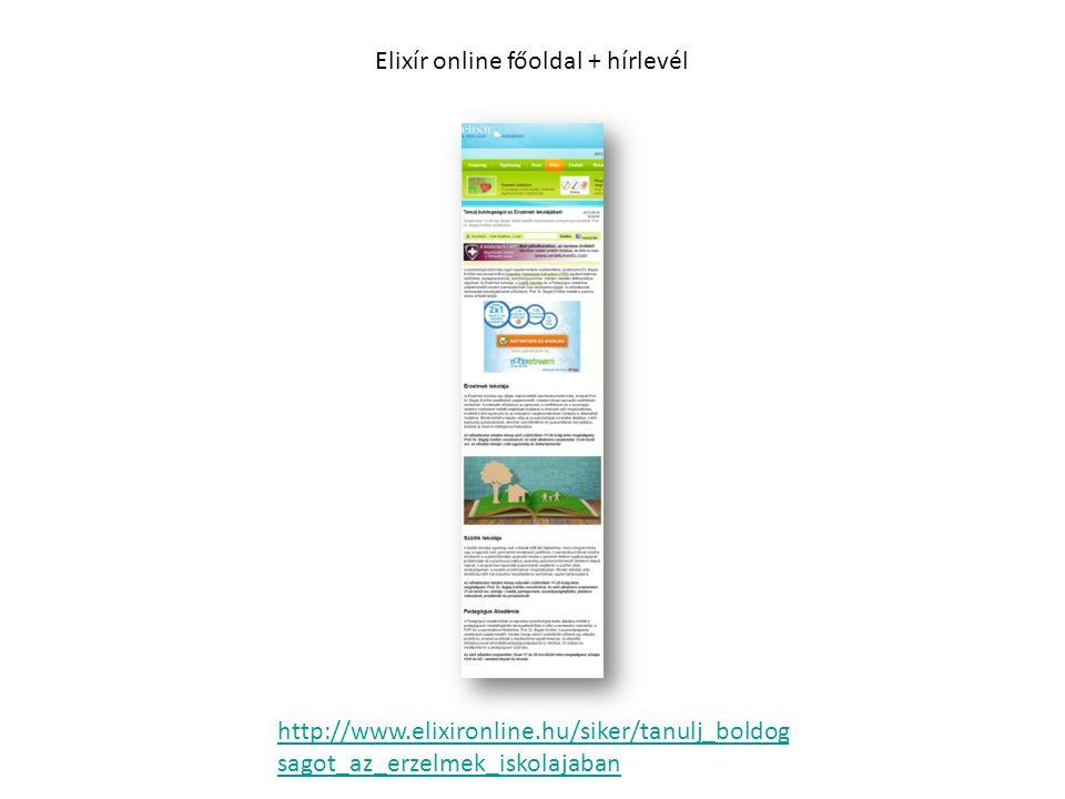 http://www.elixironline.hu/siker/tanulj_boldog sagot_az_erzelmek_iskolajaban Elixír online főoldal + hírlevél