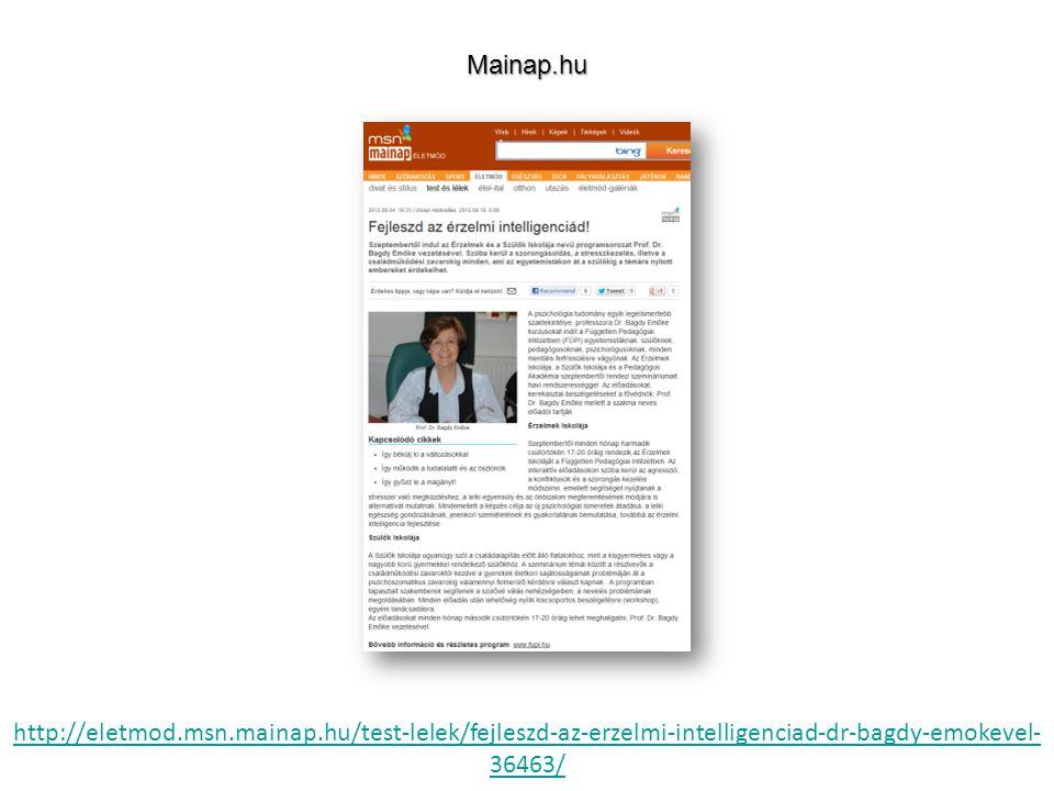 http://eletmod.msn.mainap.hu/test-lelek/fejleszd-az-erzelmi-intelligenciad-dr-bagdy-emokevel- 36463/Mainap.hu
