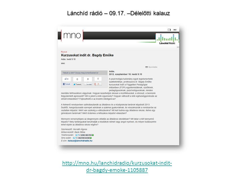 Lánchíd rádió – riport Papp Jánossal 2012.szeptember 7.
