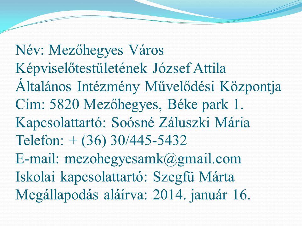 Név: Mórahalom Városi Önkormányzat Cím: 6782 Mórahalom, Szentháromság tér 1.