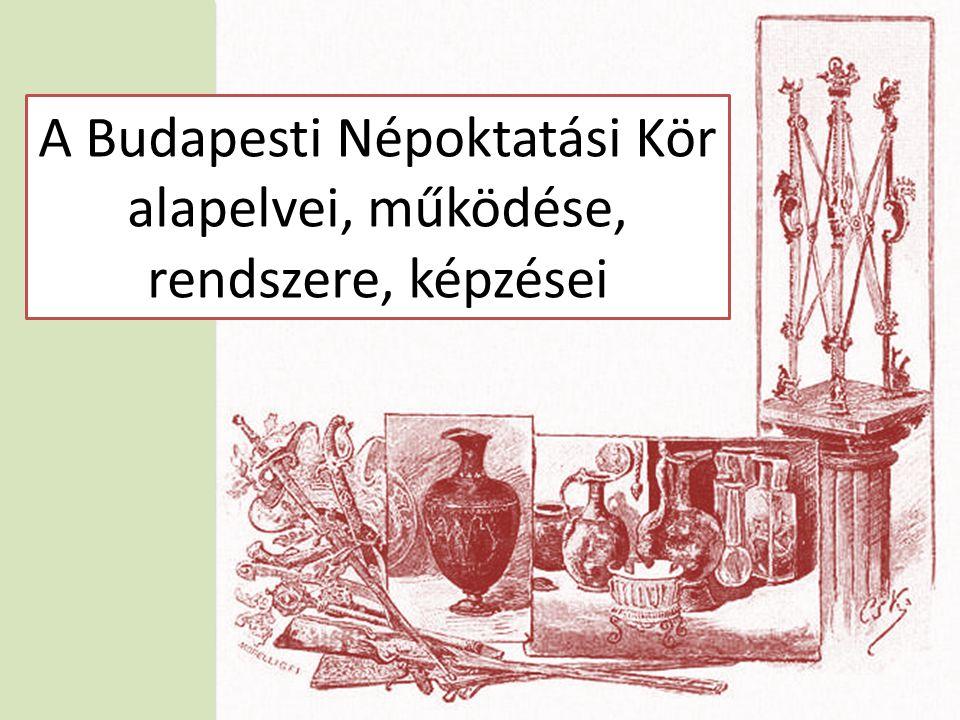 A Budapesti Népoktatási Kör alapelvei, működése, rendszere, képzései