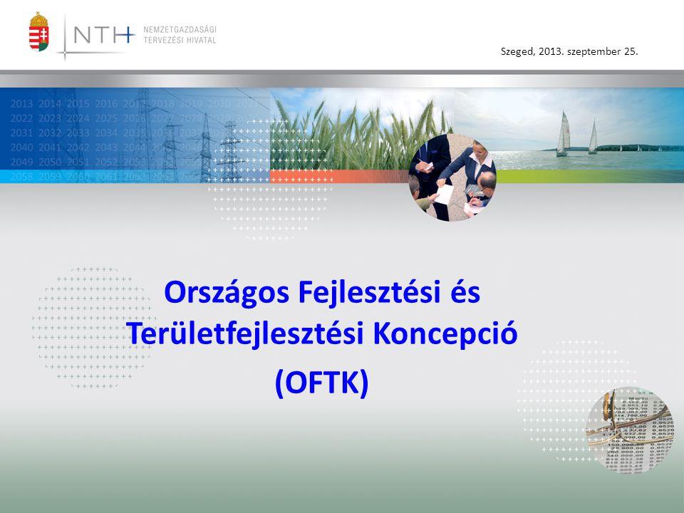 Szeged, 2013. szeptember 25. Országos Fejlesztési és Területfejlesztési Koncepció (OFTK)