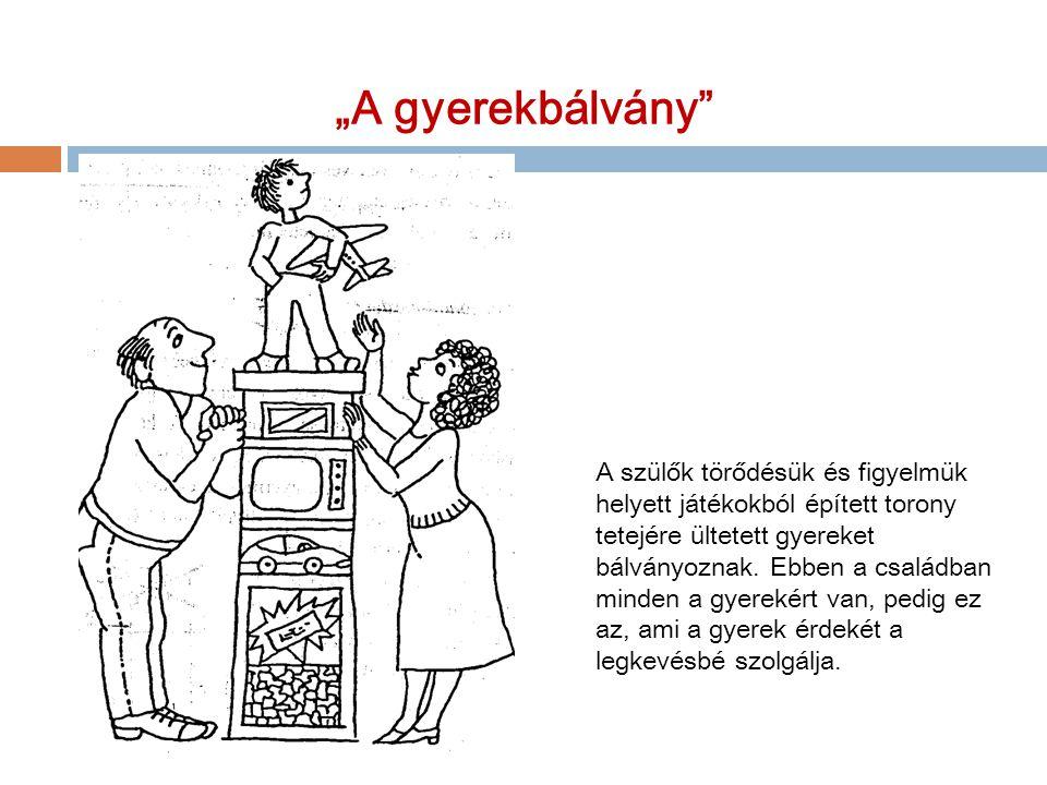 """""""A gyerekbálvány"""" A szülők törődésük és figyelmük helyett játékokból épített torony tetejére ültetett gyereket bálványoznak. Ebben a családban minden"""