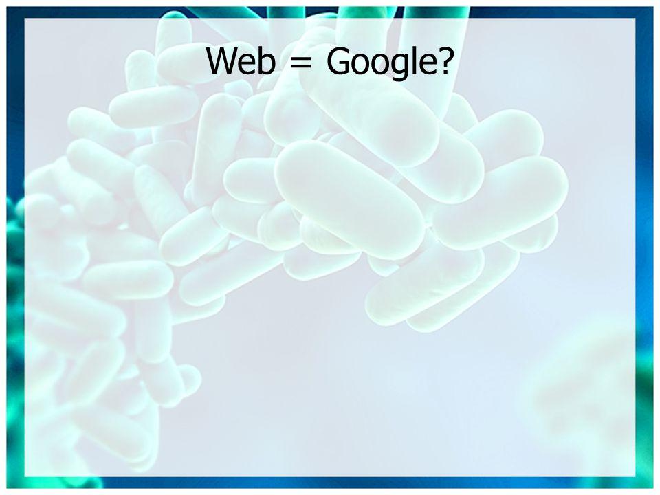 Web = Google?