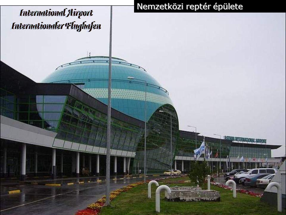 centrum Az új Asztana terveit Kiso Kurokawa japán építész készítette a nemzetközi repülőtér és egyéb, még befejezetlen építkezésekkel egyetemben.