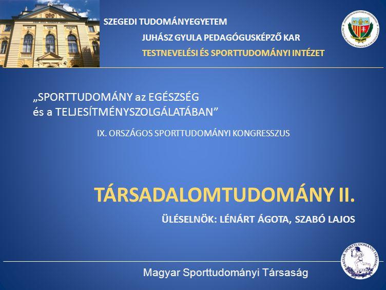 TÁRSADALOMTUDOMÁNY II.