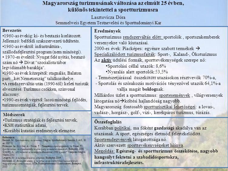 Tápláltsági állapot – rekreációs sport - táplálkozás - egészség Tolnay Pál, Mednyánszky Zsuzsa, Szabó S.