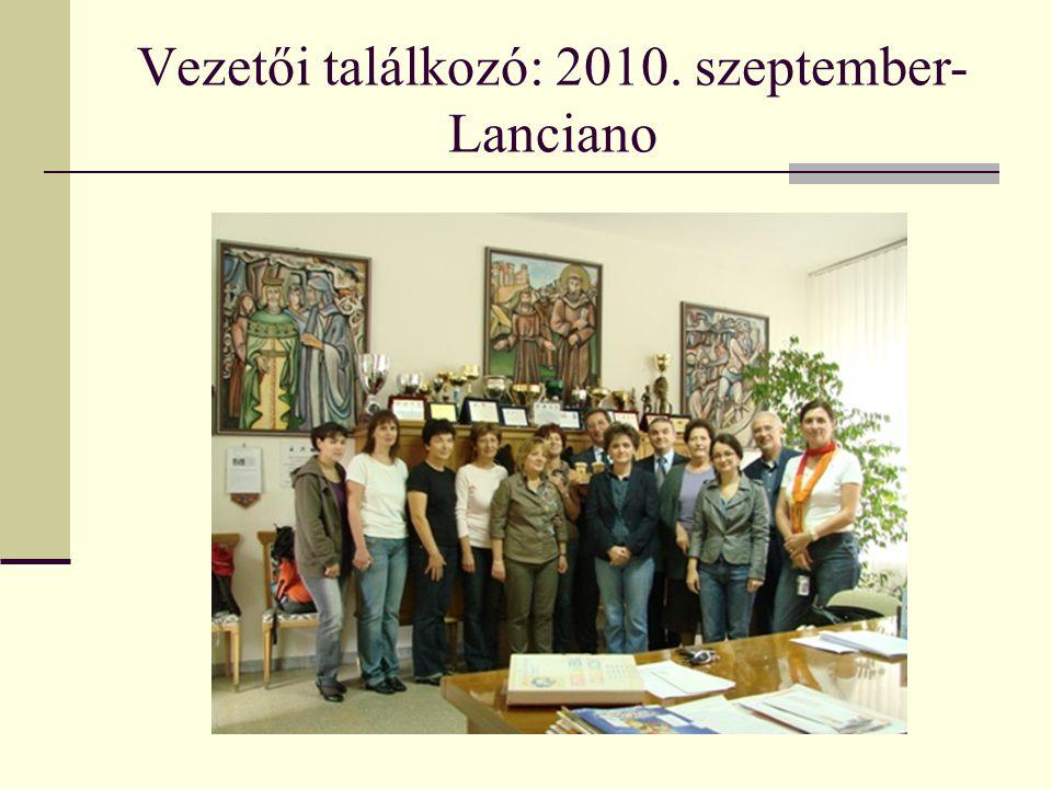Vezetői találkozó: 2010. szeptember- Lanciano