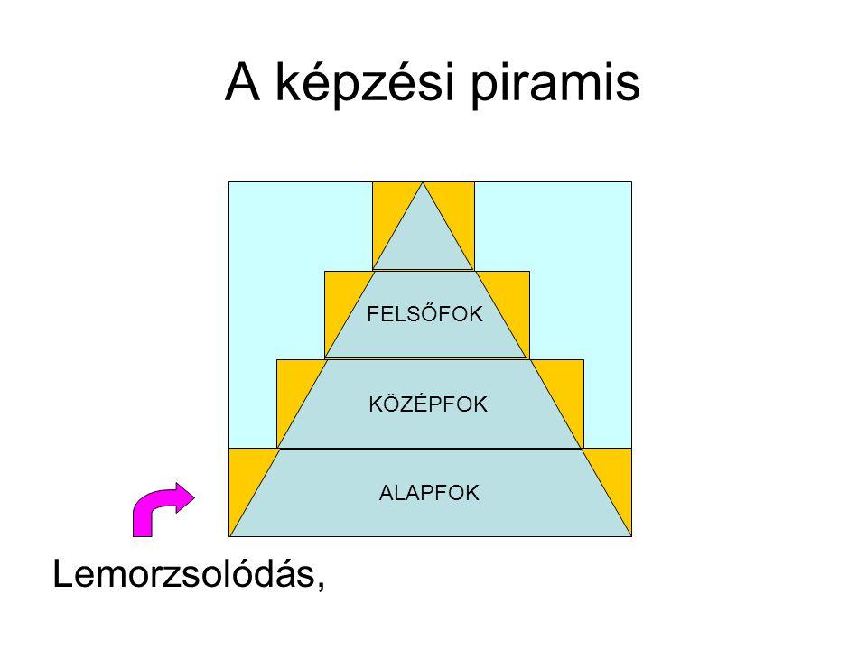 Lemorzsolódás, A képzési piramis KÖZÉPFOK ALAPFOK FELSŐFOK
