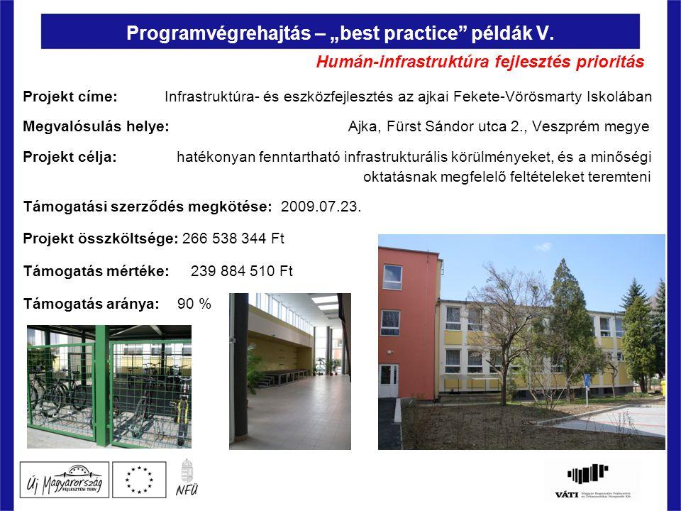 """Programvégrehajtás – """"best practice példák V."""