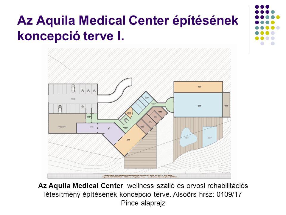 Az Aquila Medical Center építésének koncepció terve I. Az Aquila Medical Center wellness szálló és orvosi rehabilitációs létesítmény építésének koncep