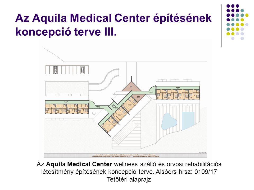 Az Aquila Medical Center építésének koncepció terve III. Az Aquila Medical Center wellness szálló és orvosi rehabilitációs létesítmény építésének konc