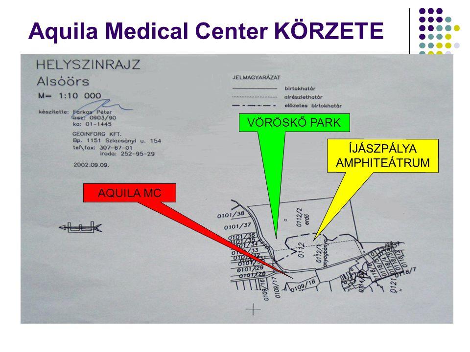 Aquila Medical Center KÖRZETE VÖRÖSKŐ PARK ÍJÁSZPÁLYA AMPHITEÁTRUM AQUILA MC