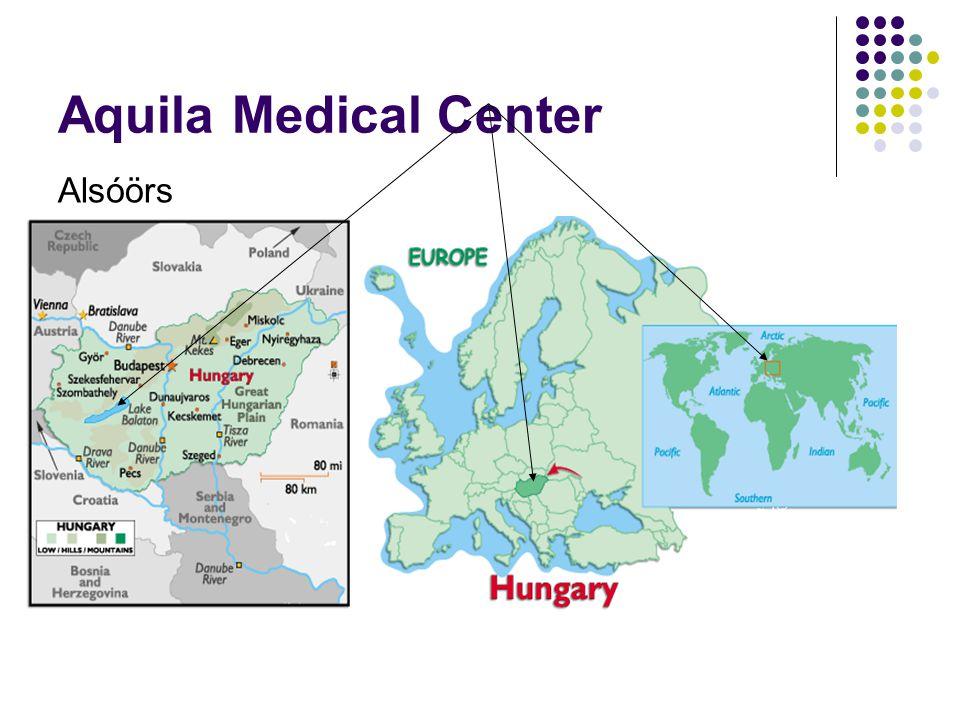 Aquila Medical Center Küldetés:  betegségmegelőzés,  korai betegség-felismerés  a testi–lelki egészség helyreállítása  korai fázisában a betegség kialakulásának megelőzése  segítségnyújtás ahhoz, hogy vendégeink egészségüket minél tovább megőrizzék