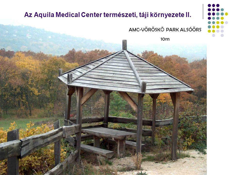 Az Aquila Medical Center természeti, táji környezete II. AMC-VÖRÖSK Ő PARK ALSÓÖRS 10m